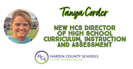 TANYA CORDER IS THE NEW HCS DIRECTOR OF HIGH SCHOOL CURRICULUM, INSTRUCTION AND ASSESSMENT